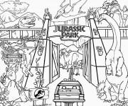 Coloriage et dessins gratuit Image de Jurassic Park à imprimer