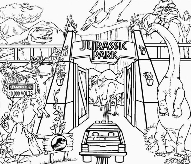 Coloriage et dessins gratuits Image de Jurassic Park à imprimer