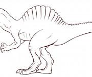 Coloriage et dessins gratuit indominus rex de jurassic park à imprimer