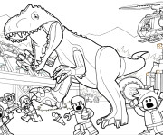 Coloriage Jurassic Park Lego