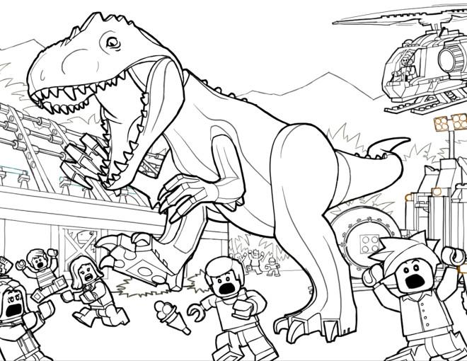 Coloriage jurassic park lego dessin gratuit imprimer - Jurassic park gratuit ...