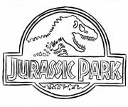 Coloriage et dessins gratuit Logo Jurassic Park à imprimer