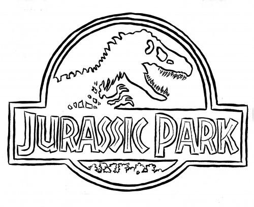 Coloriage et dessins gratuits Logo Jurassic Park à imprimer