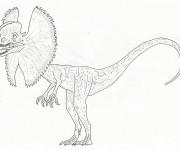 Coloriage et dessins gratuit Un dinosaure faible à imprimer