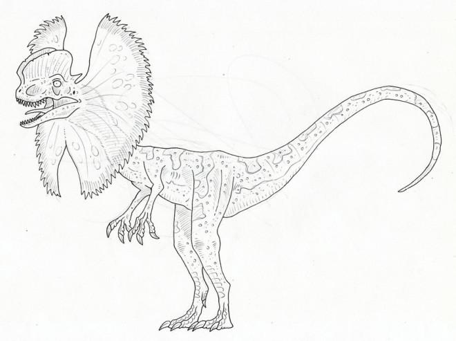 Coloriage un dinosaure faible dessin gratuit imprimer - Dinosaure film gratuit ...