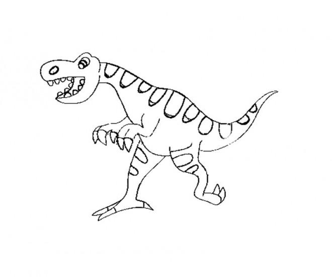 Coloriage et dessins gratuits Un Dinosaure humoristique à imprimer