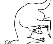 Coloriage et dessins gratuit Kangourou à télécharger à imprimer