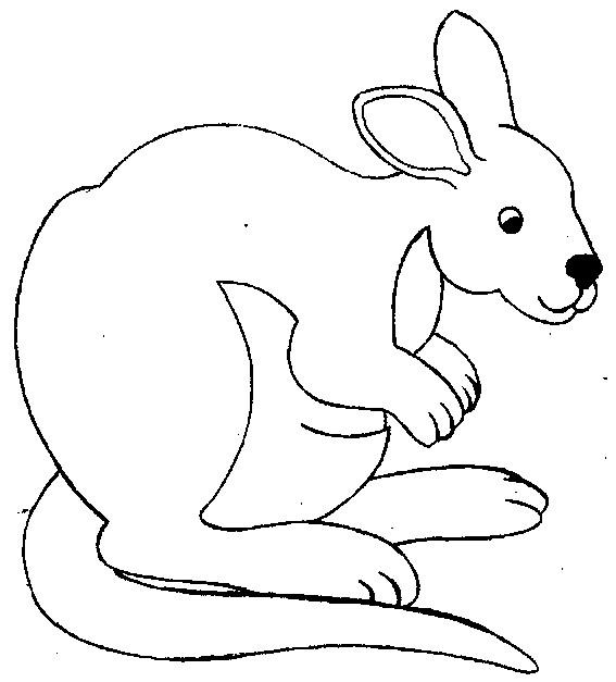 Coloriage et dessins gratuits Kangourou baissant la tête à imprimer
