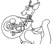 Coloriage Kangourou du Cirque