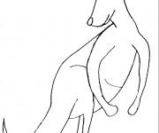 Coloriage Kangourou géant