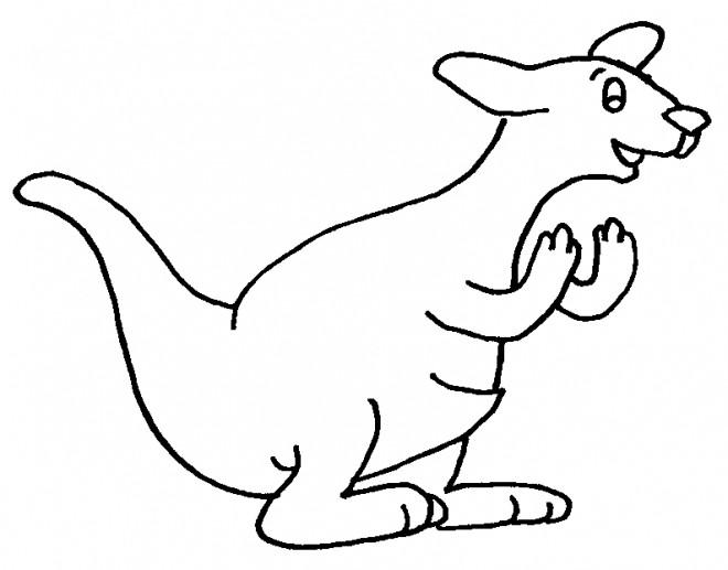 Coloriage et dessins gratuits Kangourou s'exprime à imprimer