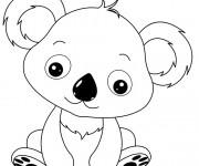 Coloriage dessin  Koala 10