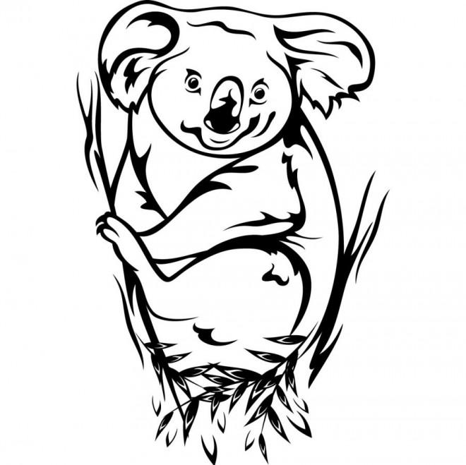 Coloriage et dessins gratuits Koala au crayon pour enfant à imprimer