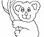 Coloriage et dessins gratuit Koala avec les yeux fermés à imprimer