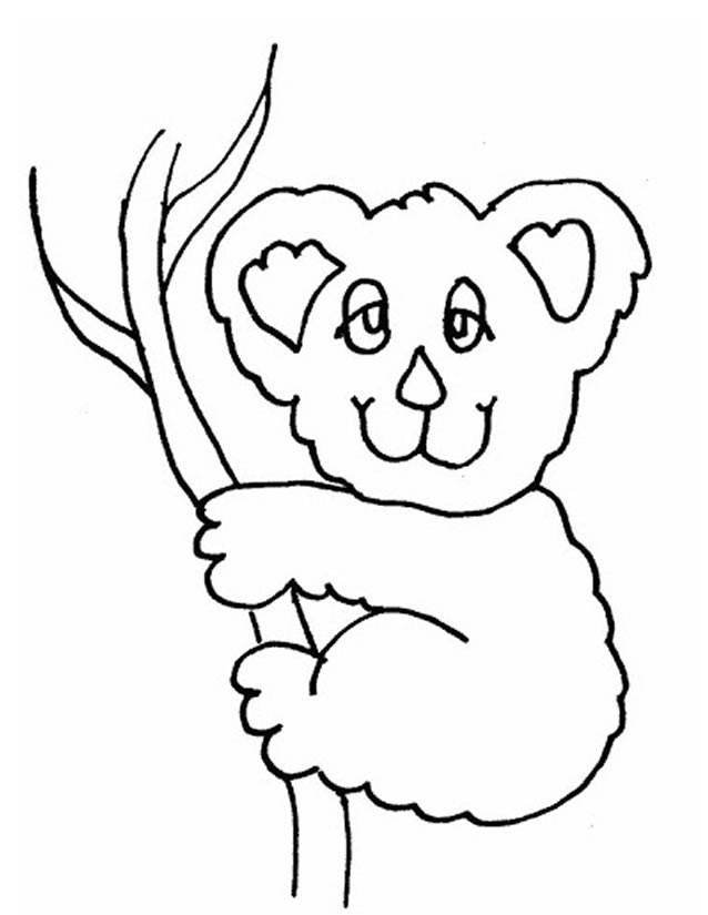 Coloriage et dessins gratuits Koala avec les yeux fermés à imprimer