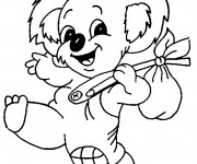 Coloriage Koala en souriant