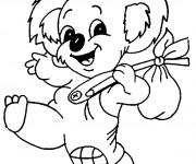 Coloriage et dessins gratuit Koala en souriant à imprimer