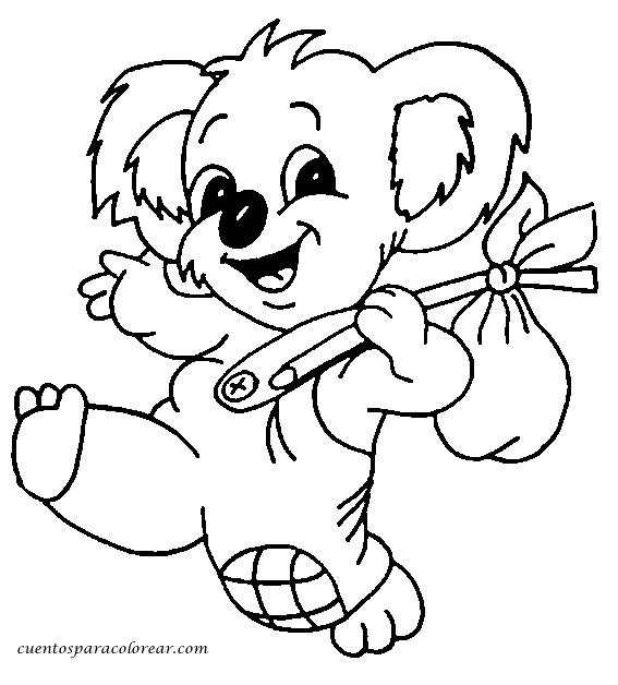 Coloriage et dessins gratuits Koala en souriant à imprimer
