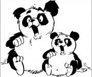 Coloriage et dessins gratuit Koala et son petit humoristique à imprimer