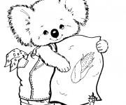 Coloriage et dessins gratuit Koala mignon à imprimer