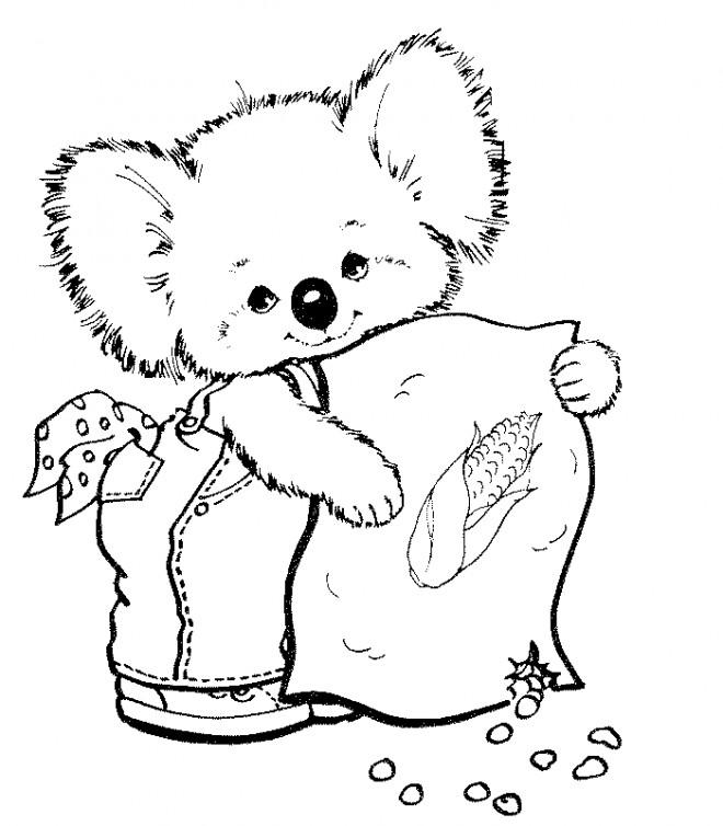 Coloriage et dessins gratuits Koala mignon à imprimer