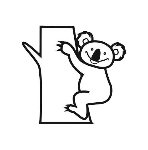 Coloriage Koala Qui Sourit Dessin Gratuit A Imprimer