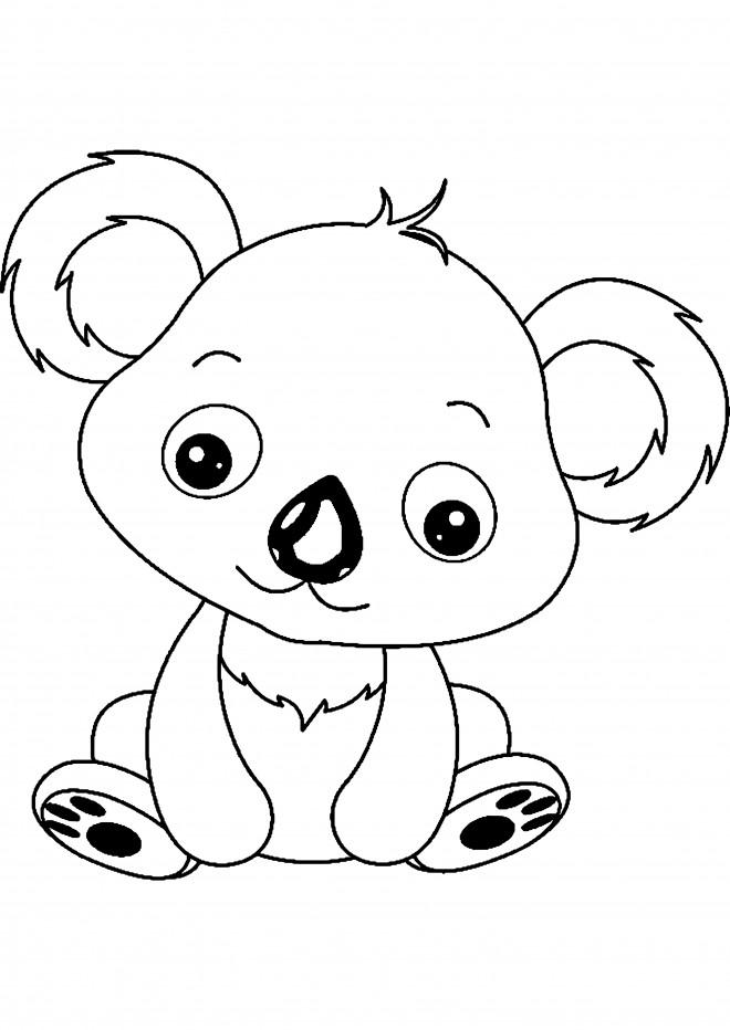 Coloriage et dessins gratuits Petit Koala en ligne à imprimer
