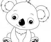 Coloriage et dessins gratuit Petit Koala trop mignon à imprimer
