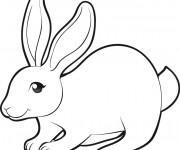 Coloriage et dessins gratuit Lapin à découper à imprimer