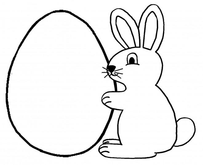 Coloriage et dessins gratuits Lapin et Oeuf à imprimer