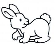 Coloriage et dessins gratuit Lapin pour enfant à imprimer