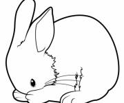 Coloriage et dessins gratuit Lapin se nettoie à imprimer