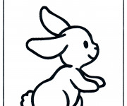 Coloriage Lapin simple