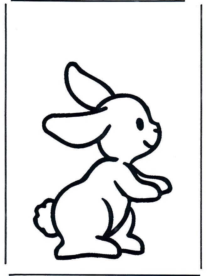 Coloriage et dessins gratuits Lapin simple à imprimer