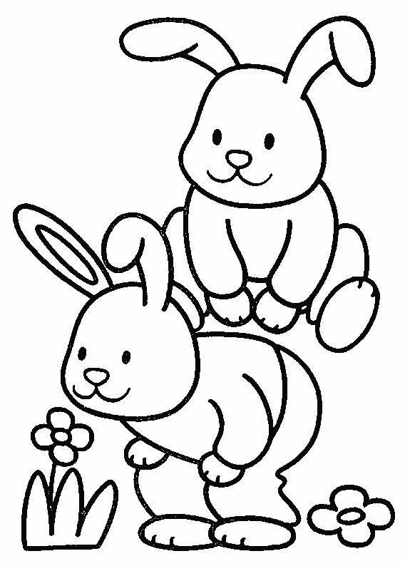Coloriage et dessins gratuits Les petits Lapins s'amusent à imprimer