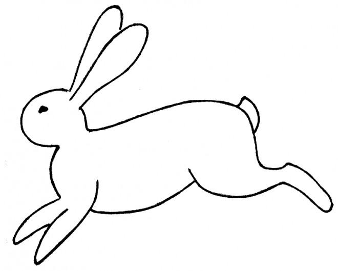 Coloriage li vre qui court dessin gratuit imprimer - Un lapin dessin ...