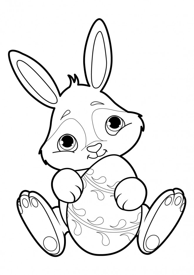 Coloriage petit lapin sympathique dessin gratuit imprimer - Coloriage petit lapin ...