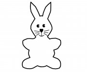 Coloriage Petite image de Lapin