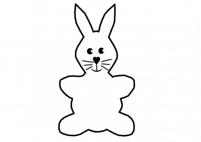 Coloriage et dessins gratuits Petite image de Lapin à imprimer
