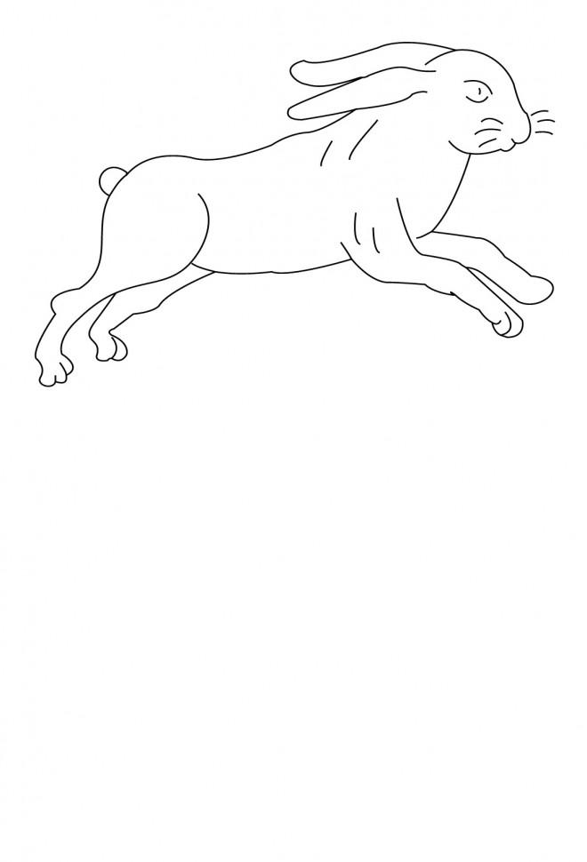Coloriage et dessins gratuits Lièvre facile à imprimer
