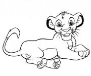 Coloriage dessin  Dessin Roi Lion facile