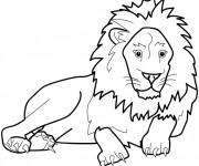 Coloriage et dessins gratuit Lion 1 à imprimer