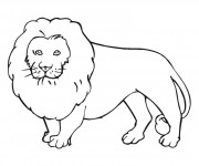 Coloriage Lion 10