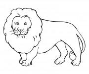 Coloriage et dessins gratuit Lion 10 à imprimer