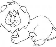 Coloriage et dessins gratuit Lion 11 à imprimer