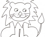 Coloriage Lion 12