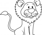 Coloriage et dessins gratuit Lion 13 à imprimer