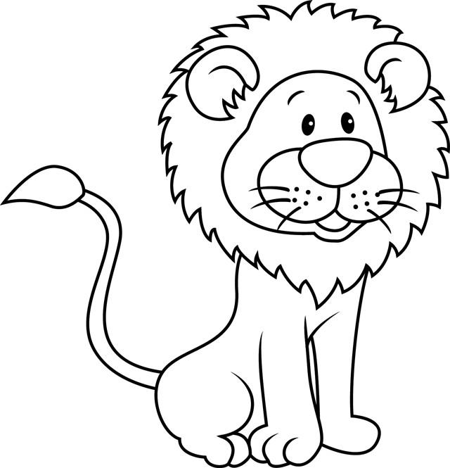 Coloriage lion 13 dessin gratuit imprimer - Images de lions a imprimer ...