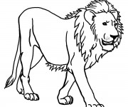 Coloriage Lion 16