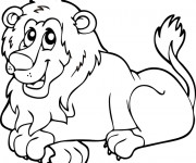 Coloriage Lion 21